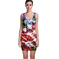 Officially Sexy Red Floating Hearts Collection Sleeveless Bodycon Dress