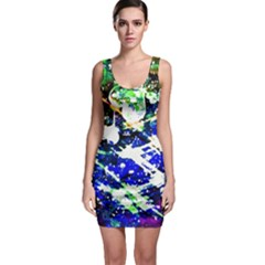 Officially Sexy Blue Floating Hearts Collection Sleeveless Bodycon Dress