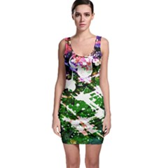 Officially Sexy Green Floating Hearts Collection Sleeveless Bodycon Dress