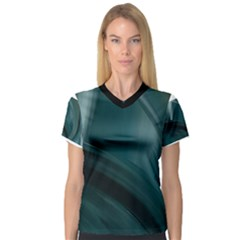 color020a Women s V-Neck Sport Mesh Tee