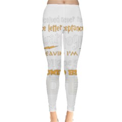 Howarts Letter Leggings