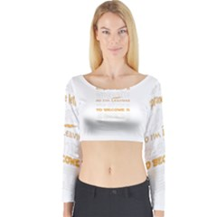 Howarts Letter Long Sleeve Crop Top (Tight Fit)