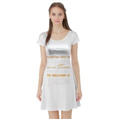 Howarts Letter Short Sleeve Skater Dress