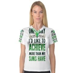 Sims Women s V-Neck Sport Mesh Tee