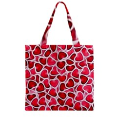 Candy Hearts Grocery Tote Bag