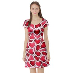 Candy Hearts Short Sleeve Skater Dress