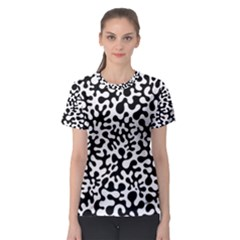 Black and White Blots Women s Sport Mesh Tee