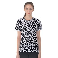 Black And White Blots Women s Cotton Tee