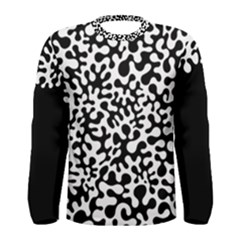 Black And White Blots Men s Long Sleeve T Shirt