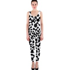 Black and White Blots OnePiece Catsuit