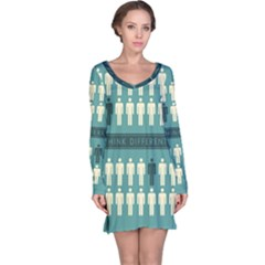 Think Different Long Sleeve Nightdress