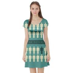 Think Different Short Sleeve Skater Dress
