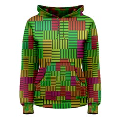 Colorful stripes and squares Pullover Hoodie