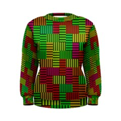 Colorful stripes and squares Sweatshirt