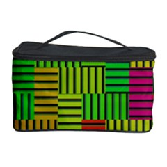 Colorful stripes and squares Cosmetic Storage Case