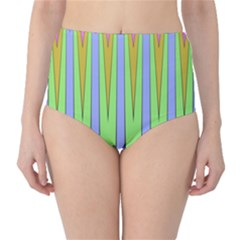 Spikes High-Waist Bikini Bottoms