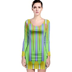 Spikes Long Sleeve Bodycon Dress