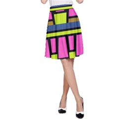 Trapeze and stripes A-line Skirt