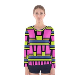 Trapeze and stripes Women Long Sleeve T-shirt