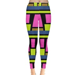Trapeze and stripes Leggings
