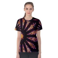 Stained Glass Rose Window Women s Cotton Tee