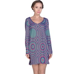 Concentric Circles Pattern Nightdress