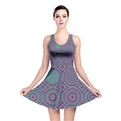 Concentric circles pattern Reversible Skater Dress