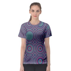 Concentric circles pattern Women s Sport Mesh Tee