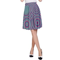 Concentric circles pattern A-line Skirt