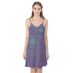 Concentric circles pattern Camis Nightgown
