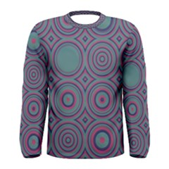 Concentric circles pattern Men Long Sleeve T-shirt