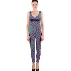 Concentric circles pattern OnePiece Catsuit
