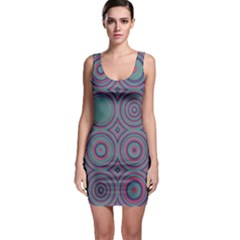 Concentric Circles Pattern Bodycon Dress