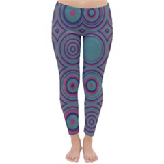 Concentric circles pattern Winter Leggings