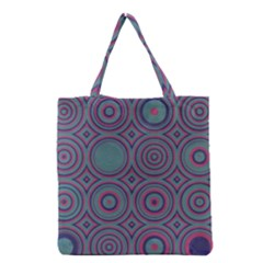 Concentric circles pattern Grocery Tote Bag