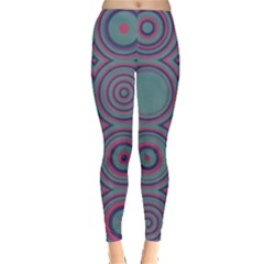 Concentric Circles Pattern Leggings