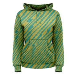 Blue yellow waves Pullover Hoodie