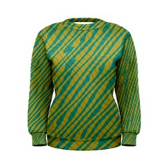 Blue yellow waves Sweatshirt