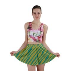 Blue yellow waves Mini Skirt