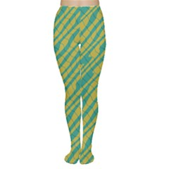 Blue yellow waves Tights