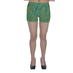 Blue yellow waves Skinny Shorts