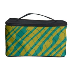 Blue yellow waves Cosmetic Storage Case