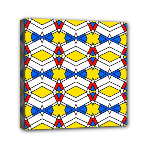 Colorful Rhombus Chains Mini Canvas 6  X 6  (stretched)