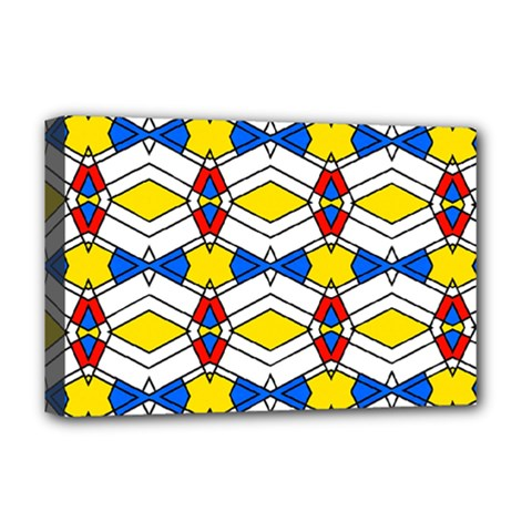 Colorful Rhombus Chains Deluxe Canvas 18  X 12  (stretched)