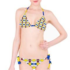 Colorful rhombus chains Bikini set