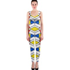 Colorful rhombus chains OnePiece Catsuit