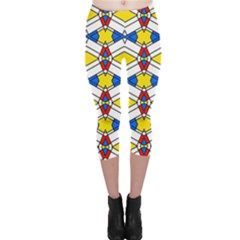 Colorful rhombus chains Capri Leggings