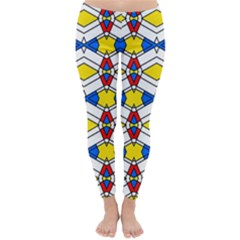 Colorful rhombus chains Winter Leggings