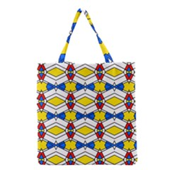 Colorful rhombus chains Grocery Tote Bag