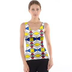 Colorful rhombus chains Tank Top
